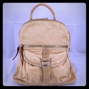 Fossil Soft Canvas Mini Backpack